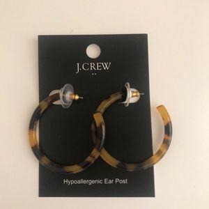 J. Crew Tortoise Hoop Earrings NWT